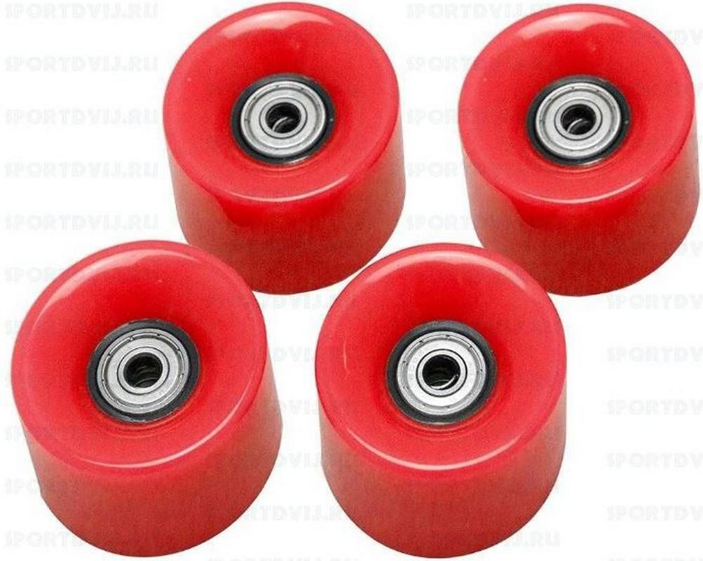 Набор колес для миниборда Atemi AW-18.06 (подшипник ABEC-5) полиуретановые красные