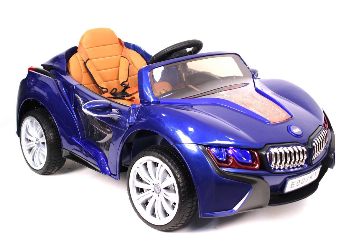 Детские электромобиль River-Toys BMW I8 E008KX Blue с ДУ