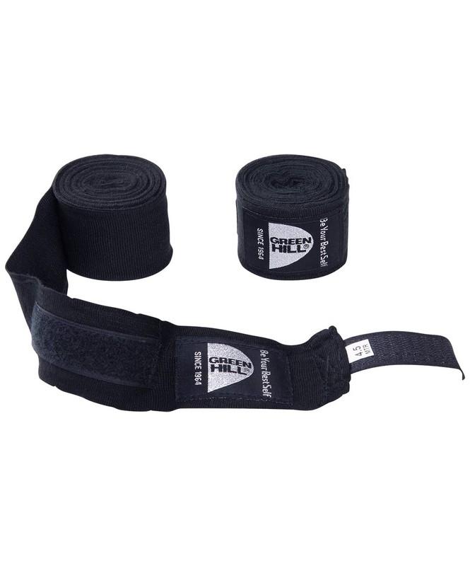 Купить Бинт боксерский Green Hill BP-6232d, 4,5м, эластик, черный,