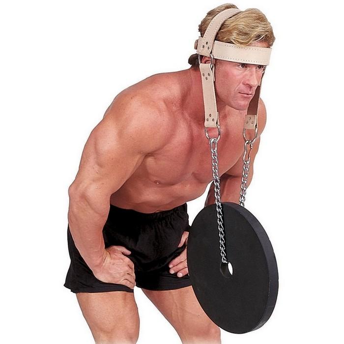 Упряжь для тренировки мышц шеи кожаная Body Solid MA307V