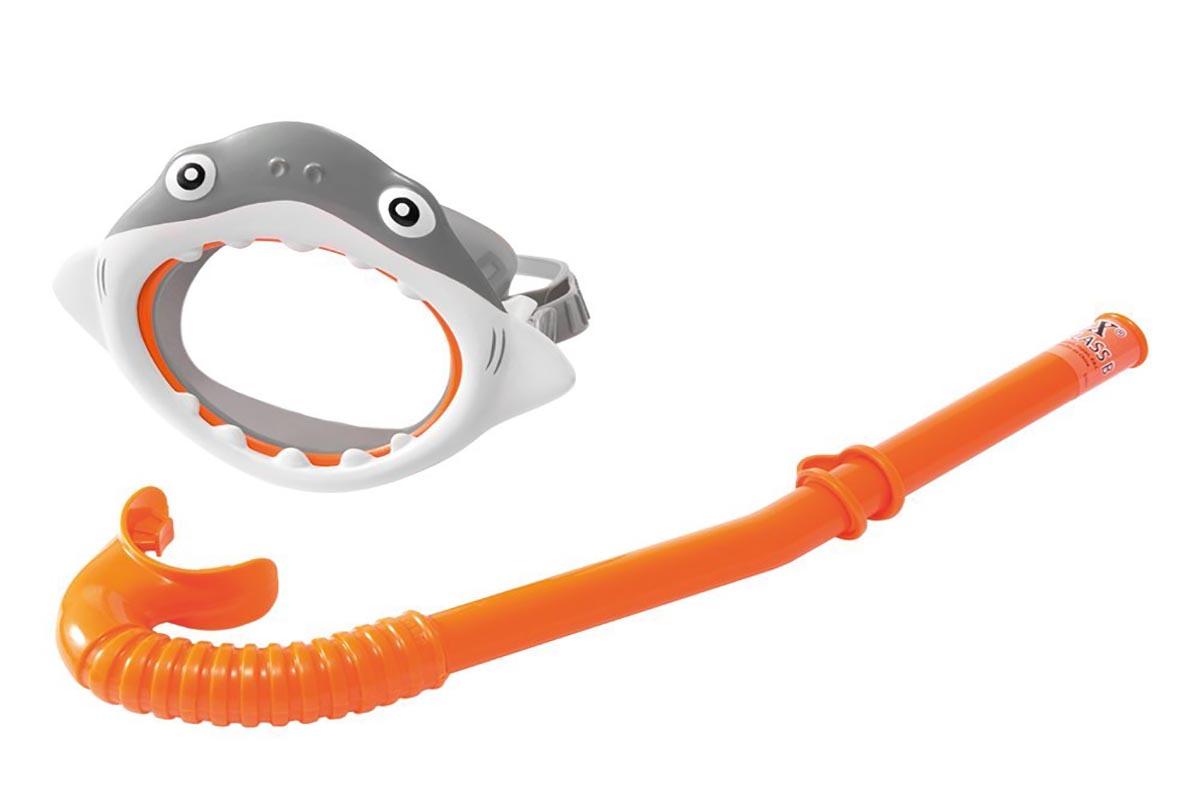 Купить Набор маска с трубкой Intex Shark Fun 55944,