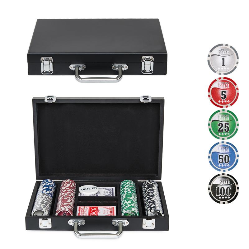 Набор для покера Wood на 200 фишек w200
