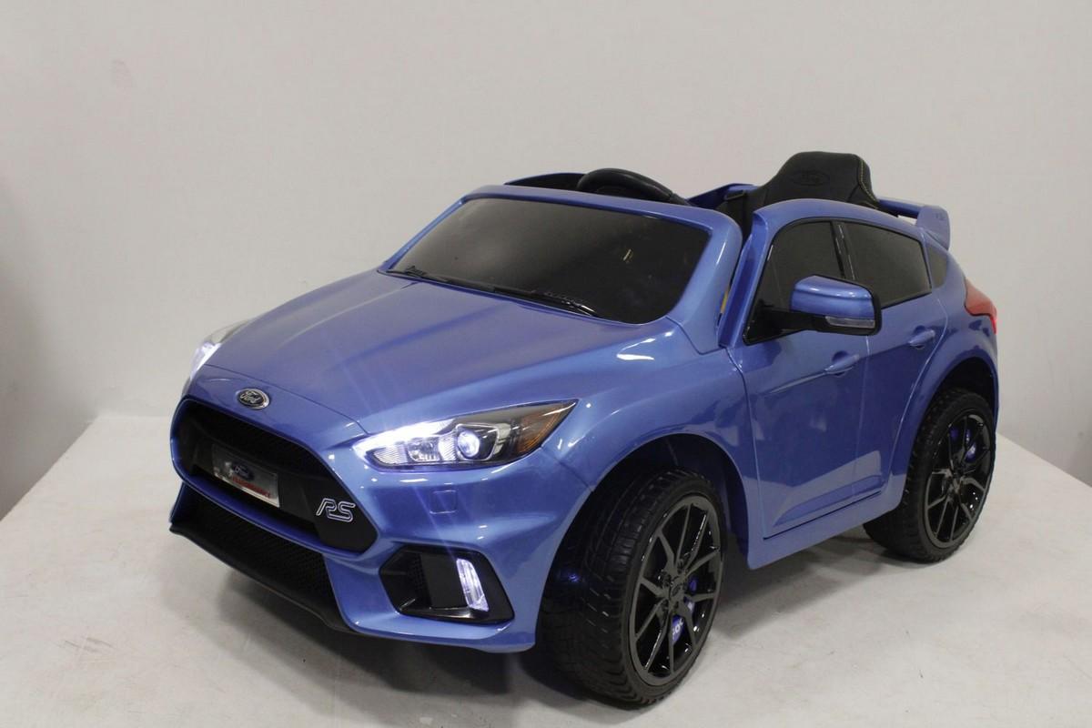 Электромобиль River-Toys Ford Focus RS синий глянец (лицензия)