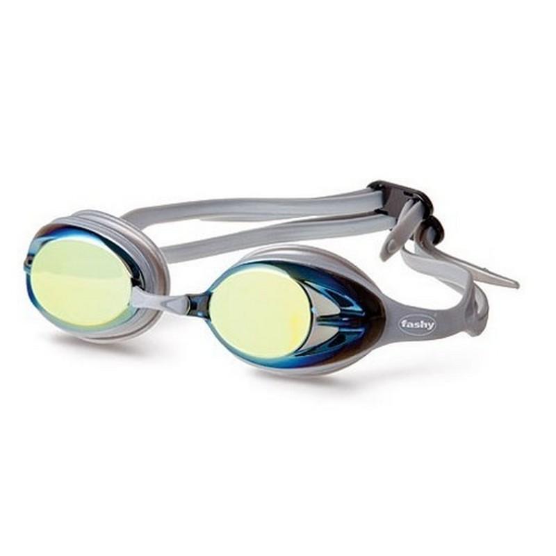 Купить Очки для плавания Fashy Power Mirror Pioneer 4156-33 зеркально-желтые линзы, зеркальная оправа,