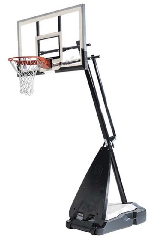 Баскетбольная стойка мобильная, стекло Spalding 54 quot; Glass Hybrid Portable 71674CN spalding баскетбольная стойка spalding 2013 highlight 42 acrylic system