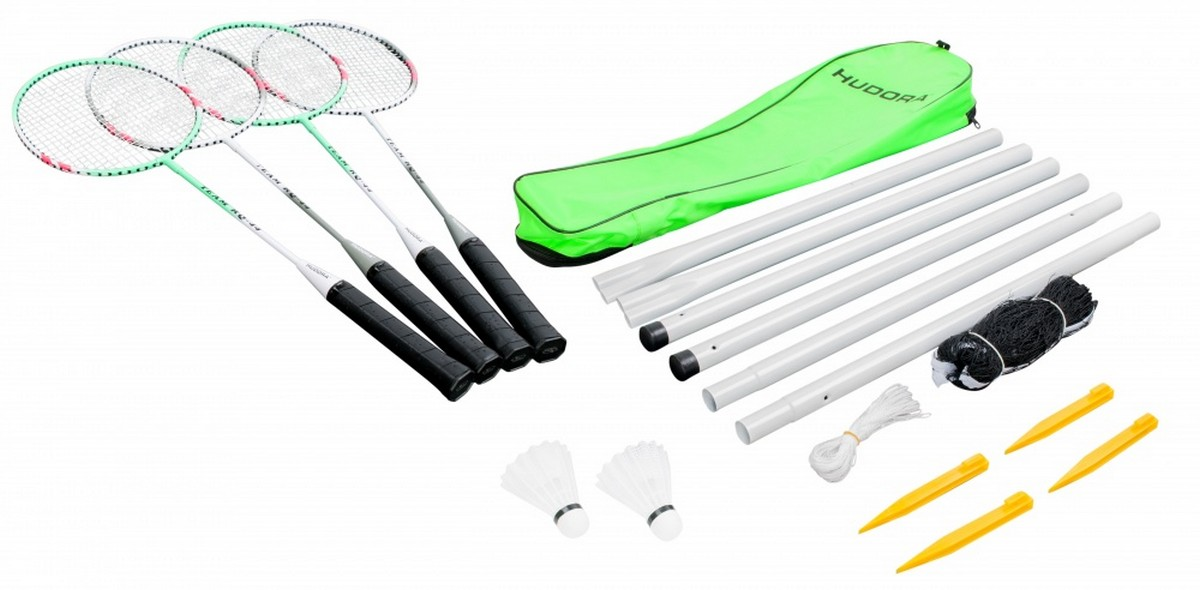 Набор для бадминтона Hudora Badmintonset Team HD-44 Green