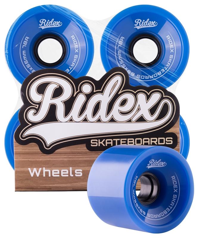 Комплект колес для лонгборда Ridex SB, 78А, 69x55мм, синий, 4 шт.