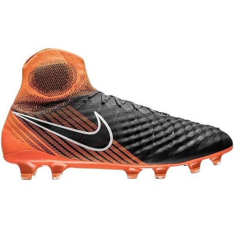 Бутсы футбольные Nike Obra II Elite DF FG Ah7301-080 SR чер/оранж