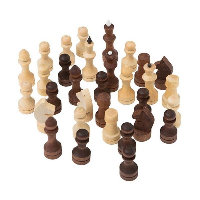 Купить Шахматные фигуры P-6, обиходные парафинированные, NoBrand