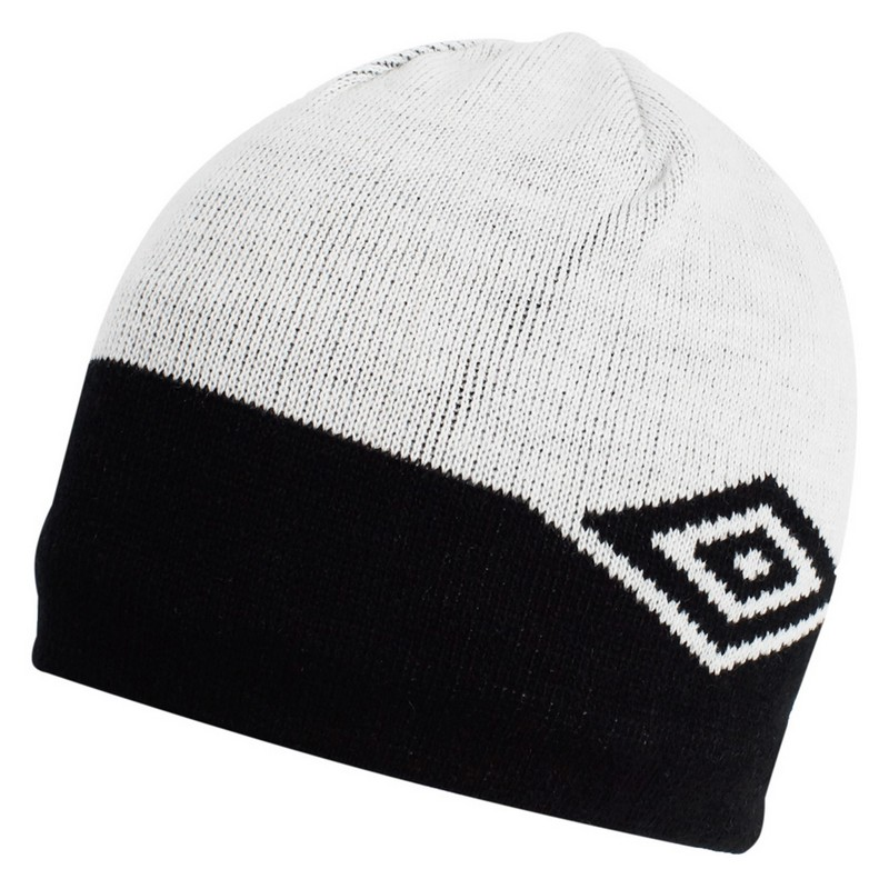 Шапка мужская Umbro Double colour beanie (811) бел/чер.