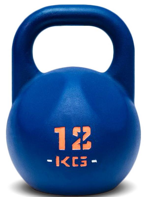 Гиря IDOL Action 12 кг, синяя с прокрашенным логотипом