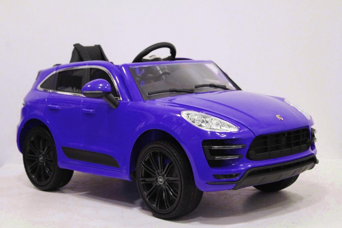 Купить Детский Электромобиль RiverToys Porsche Universal A555AA c дистанционным управлением, синий, River-Toys, Детские электромобили
