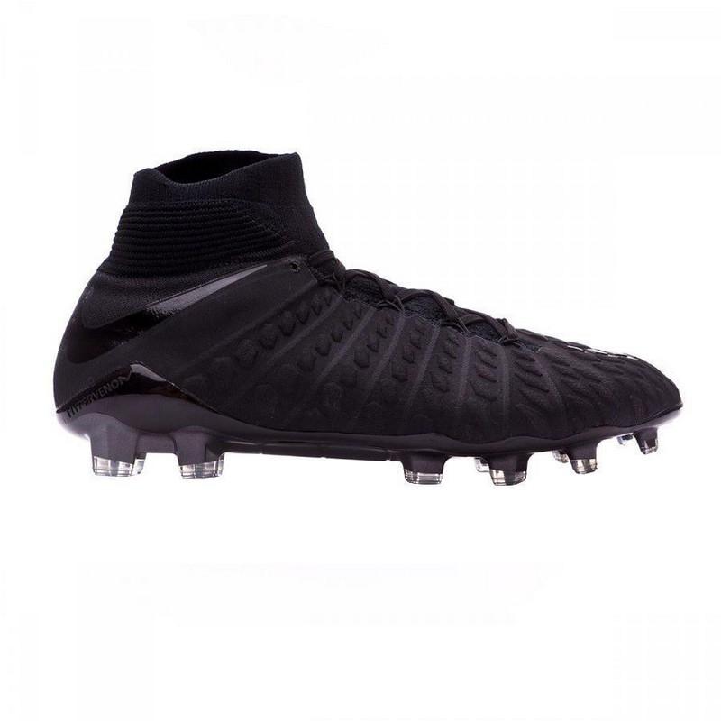 Бутсы футбольные Nike Hypervenom Phantom III Df Fg 860643-010 Sr черные