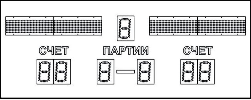 Табло волейбольное электронное 170x70x4,4 Glav 03.3.301 табло для футбола 1500х650х90мм