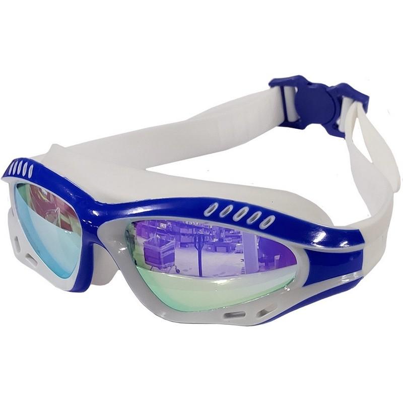 Купить Очки для плавания полу-маска B31540-1 Синийбелый, NoBrand