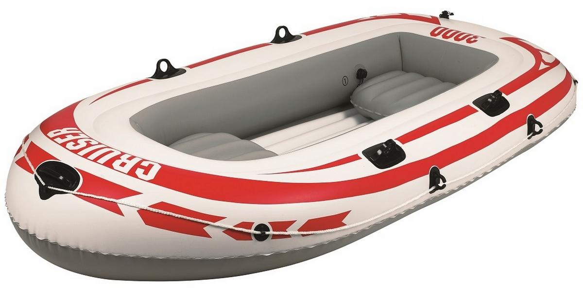 Лодка надувная+весла+насос Jilong Cruiser Boat Cb3000 Set 252х125х40см Серый 07008-4