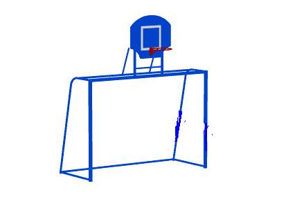 Купить Воротасбаскетбольнымщитом МАФ СО603,