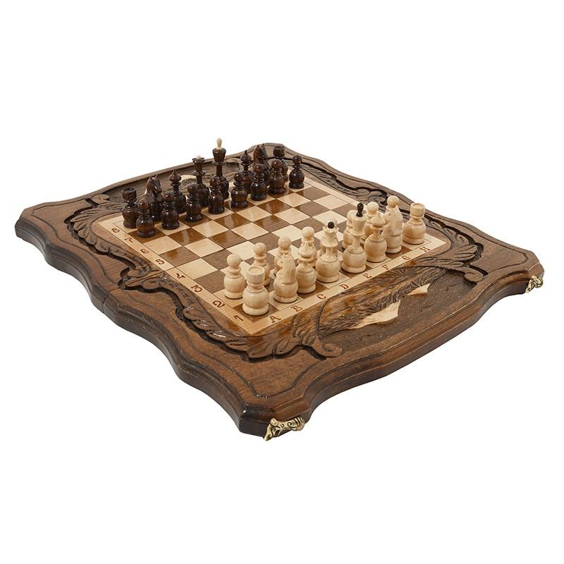 Шахматы + нарды резные c Араратом Haleyan 40