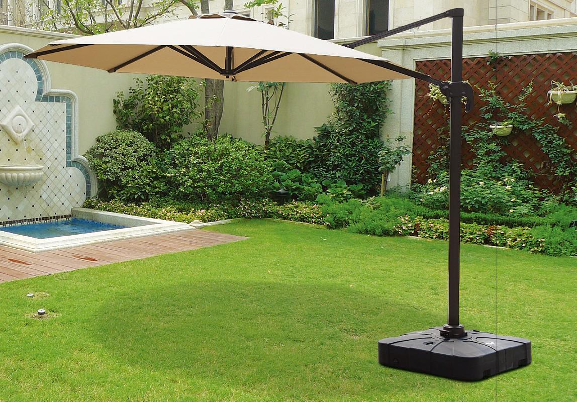 Зонт садовый подвесной GardenWay A002-3000 Бежевый (тауп)