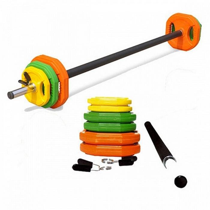 Купить Набор для боди-пампа Harper Gym Hot Iron (штанга 140 см + диски 20 кг),