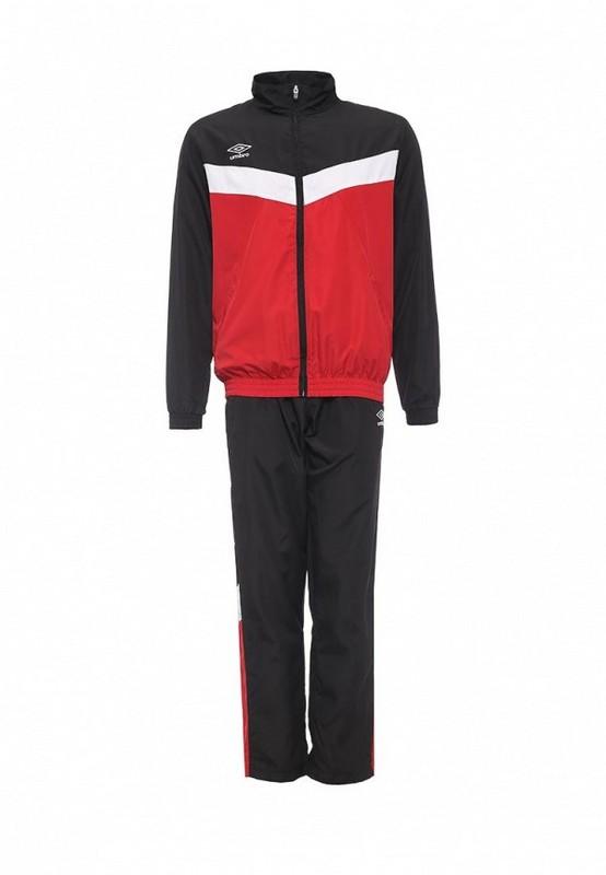 Костюм спортивный Umbro Unity Lined Suit брюки прямые 463115 (261) красн/чер/бел.