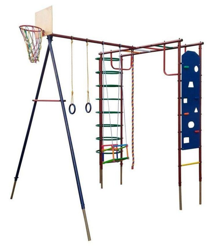 Купить Детский спортивный комплекс Вертикаль Сатурн со скалодромом, дачный, Детские спортивные комплексы, площадки