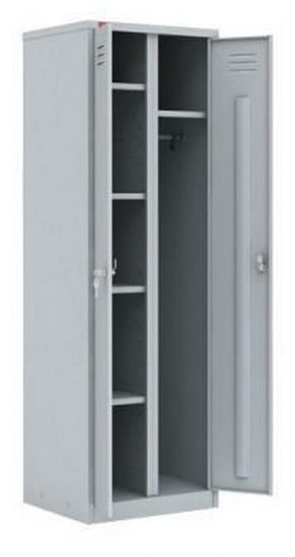 Шкаф металлический разборный 2-секционный для одежды и инвентаря СТ-22У 1860х800х500мм
