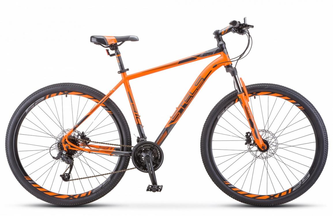 Купить Велосипед Stels Navigator 910 D V010 Оранжевый/Черный 29Ø 2020 (LU093819),