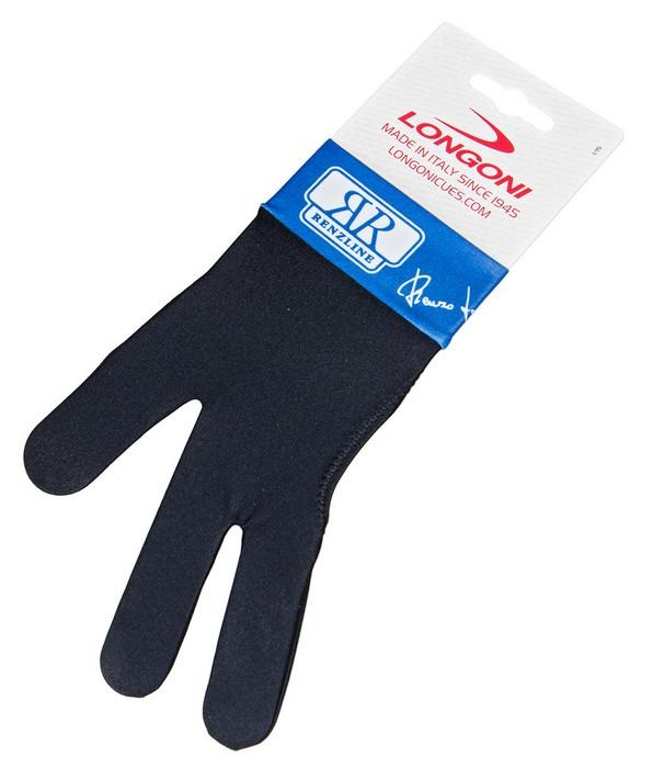 Перчатка бильярдная Longoni Renzline (черно-синяя) 45.305.03.4