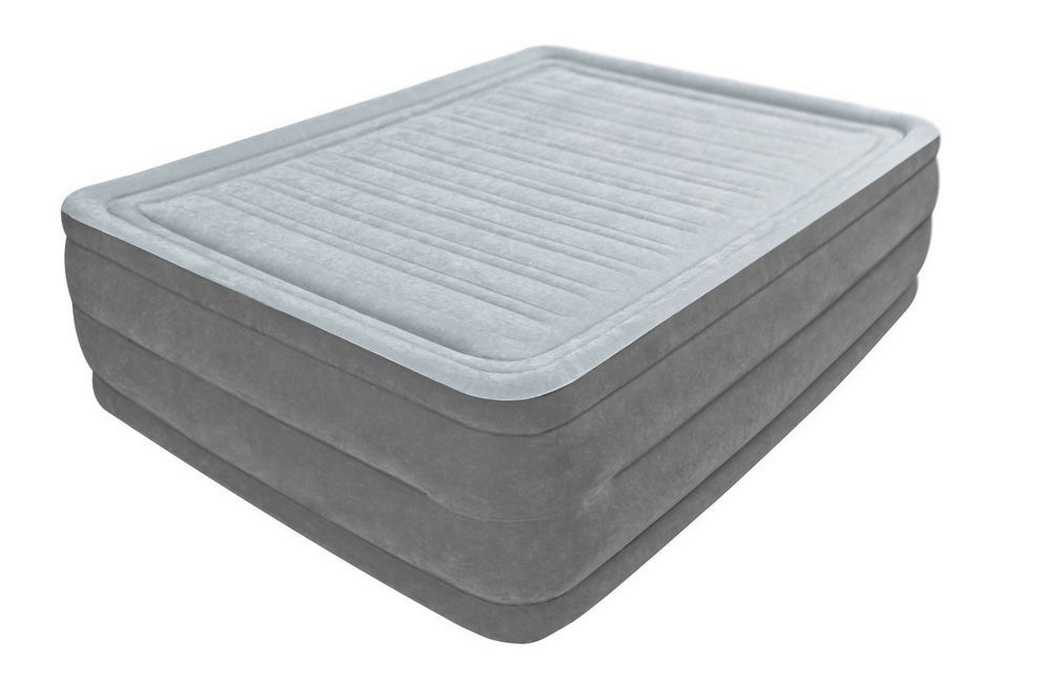 Надувная кровать Intex Comfort-Plush 152х203х56см, встроенный насос 220v 64418