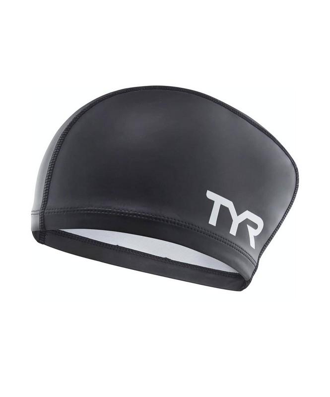 Купить Шапочка для плавания TYR Long Hair Silicone Comfort Swim Cap, LSCCAPLH/001, черный,
