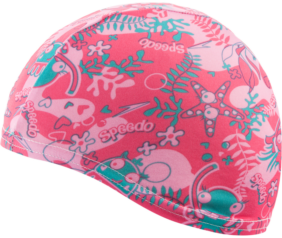 Шапочка для плавания Speedo Sea Squad Polyester Cap Junior (B915) роз, one size фото