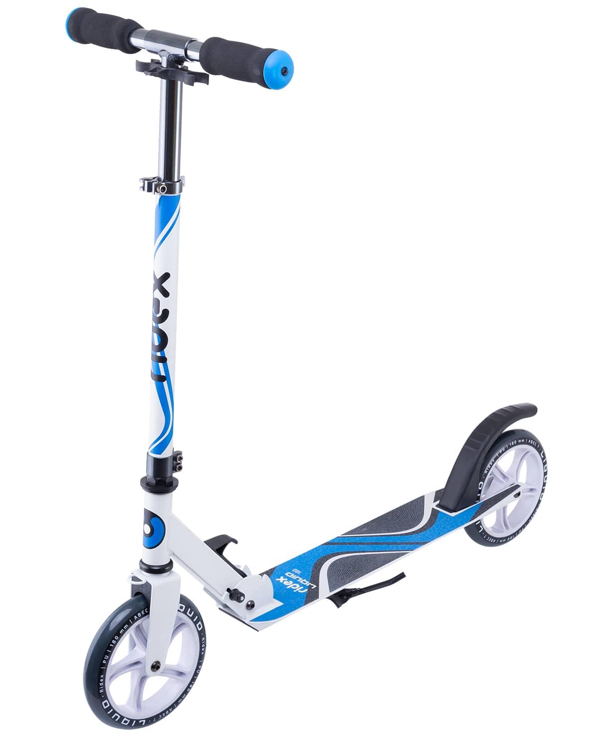 Купить Самокат 2-колесный Ridex Liquid d180 мм, белыйсиний,