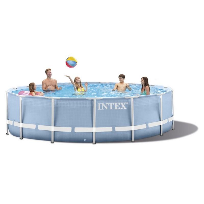 Бассейн на опорах 366х76 см Intex 28710 intex intex каркасный бассейн с металлическим ободком 366х76 см