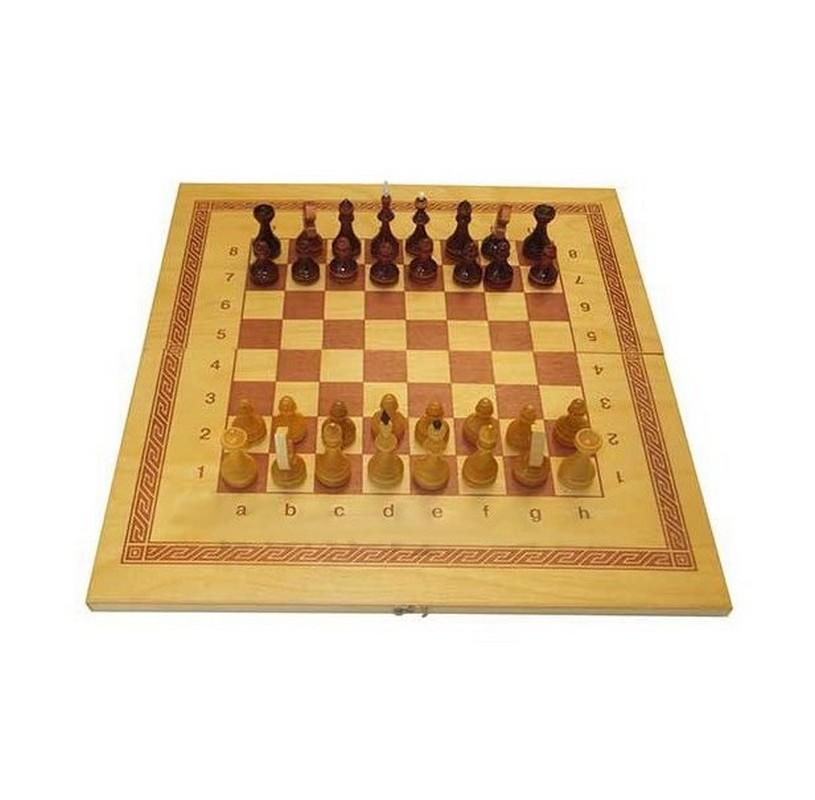 Купить Игра 2 в 1 дерево: шашки, шахматы лакированные ES-0500, NoBrand, Шахматы, шашки, нарды