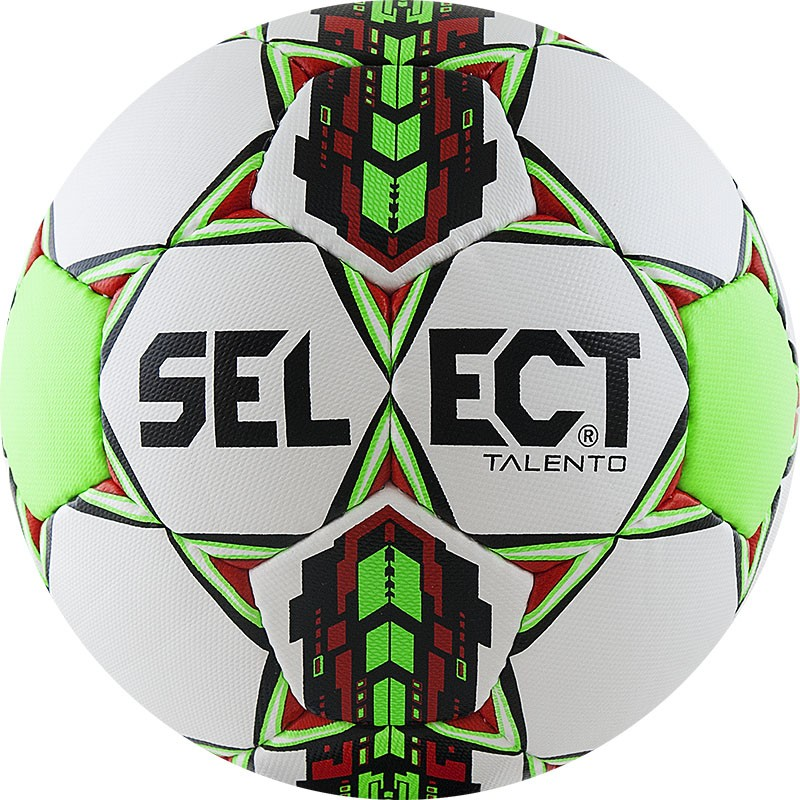 Мяч футбольный Select Talento (р.4) тренировочный облегченный, дизайн 2018г, бел/зел/крас/чер. мяч футзальный select futsal talento 11 852616 049 р 3