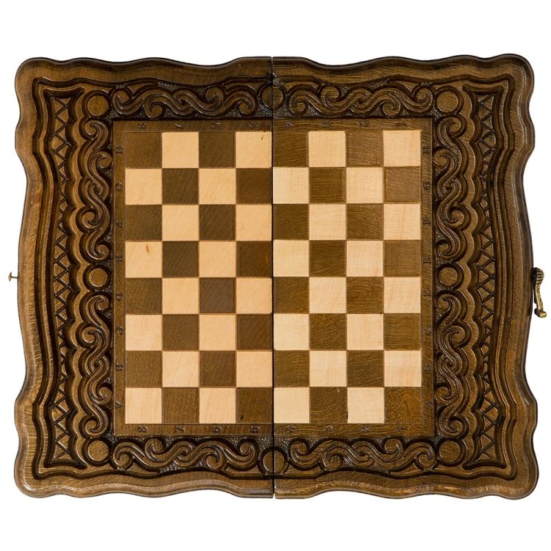 Шахматы + нарды резные Haleyan Бриз 30 шахматы нарды резные haleyan бриз 50