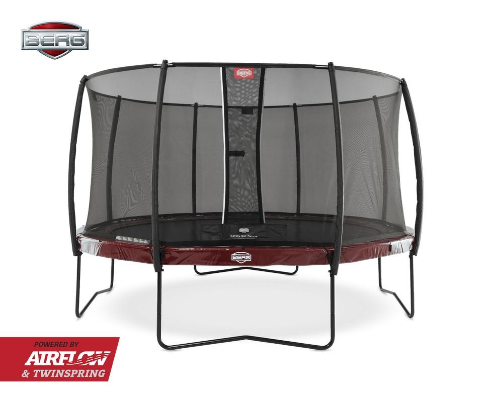 Батут Berg Elite 430 с защитной сеткой Deluxe, red