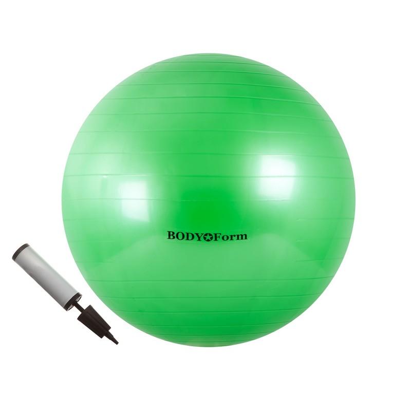 Набор 55 см (мяч гимнастический + насос) Body Form BF-GBP01 зеленый
