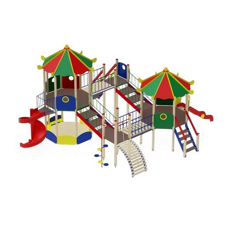 Купить Детский игровой комплекс Карнавал (винтовойскат) горкаН2000горкаН1200 МАФ786х1072,5х523 см ДИК2204, МАФ