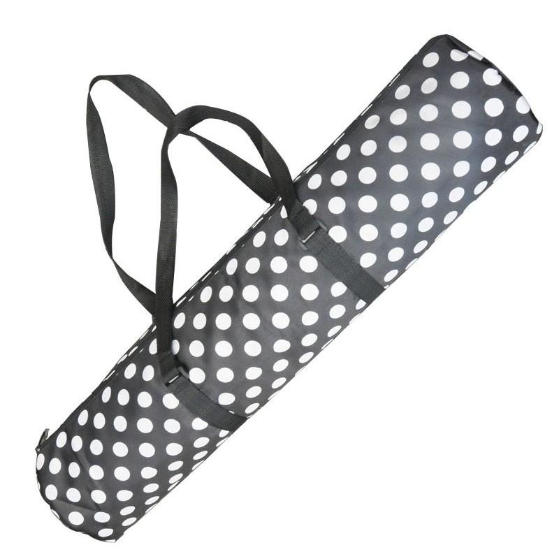 Купить Чехол для гимнастического коврика C33502-2 черный горошек, NoBrand