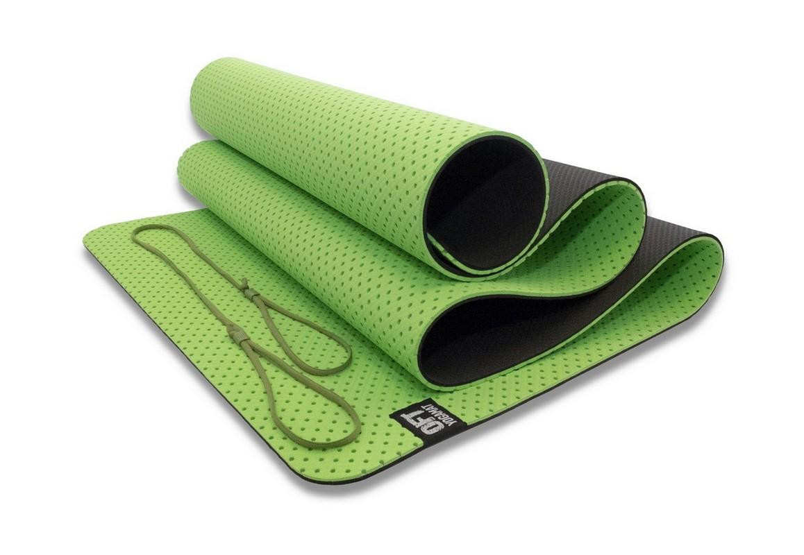Мат для йоги Original Fit.Tools FT-YGM6-3DT-GREEN зеленый