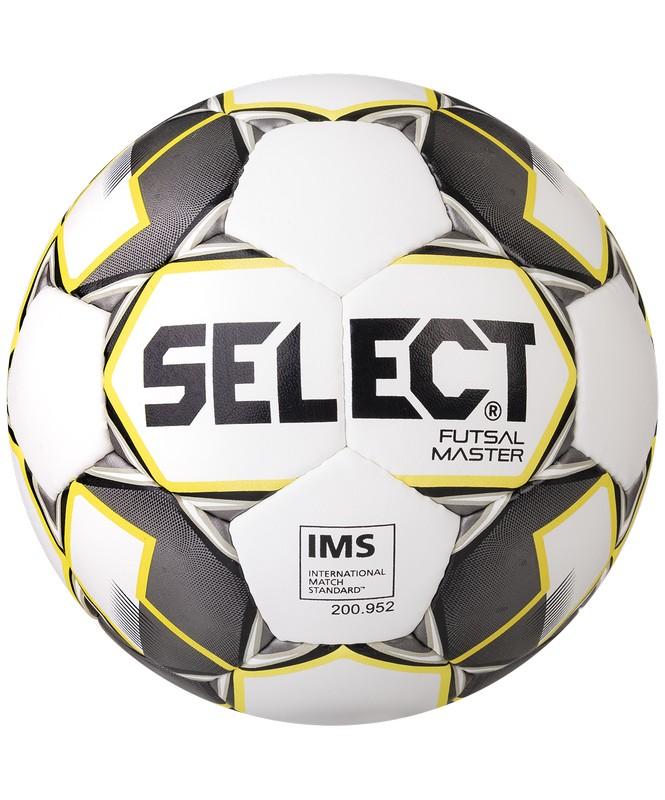 Мяч футзальный Select Futsal Master р.4 белый-желтый-черный