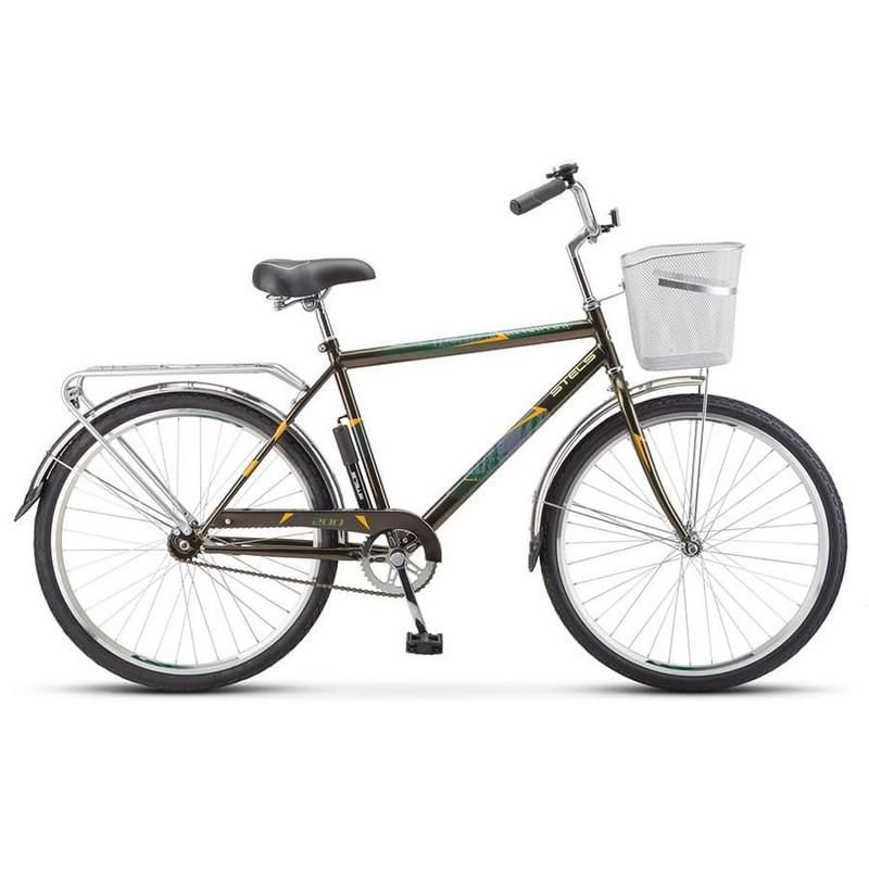 Купить Велосипед Stels Navigator 26 200 Gent Z010 2020 Оливковый (с корзиной) (LU094044),