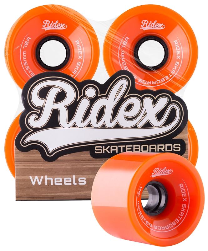 Комплект колес для лонгборда Ridex SB, 78А, 69x55мм, оранжевый, 4 шт.