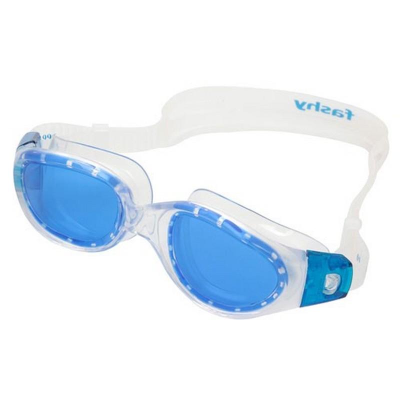 Купить Очки для плавания Fashy Prime 4179-50 синие линзы, прозрачная оправа,