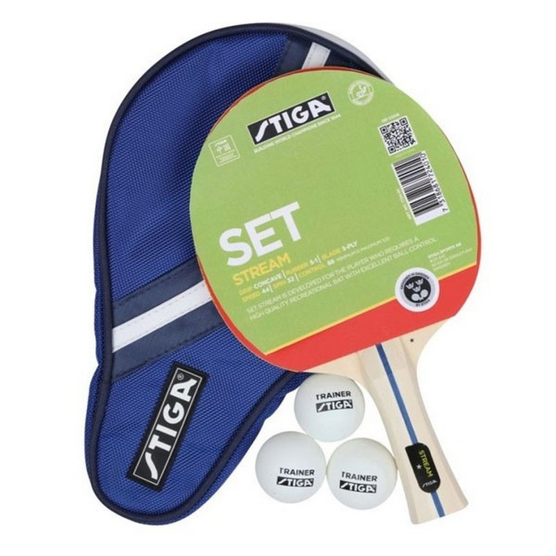 Набор для тенниса (ракетка + 3 мяча + чехол) Stiga Stream WRB 1724-01 ракетка для настольного тенниса stiga trinity