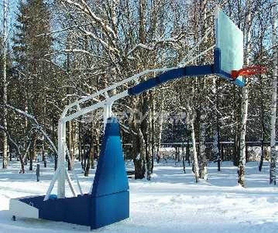 Стойка баскетбольная мобильная складная с гидравлическим механизмом,игровая. Вынос1.6м. sportiko