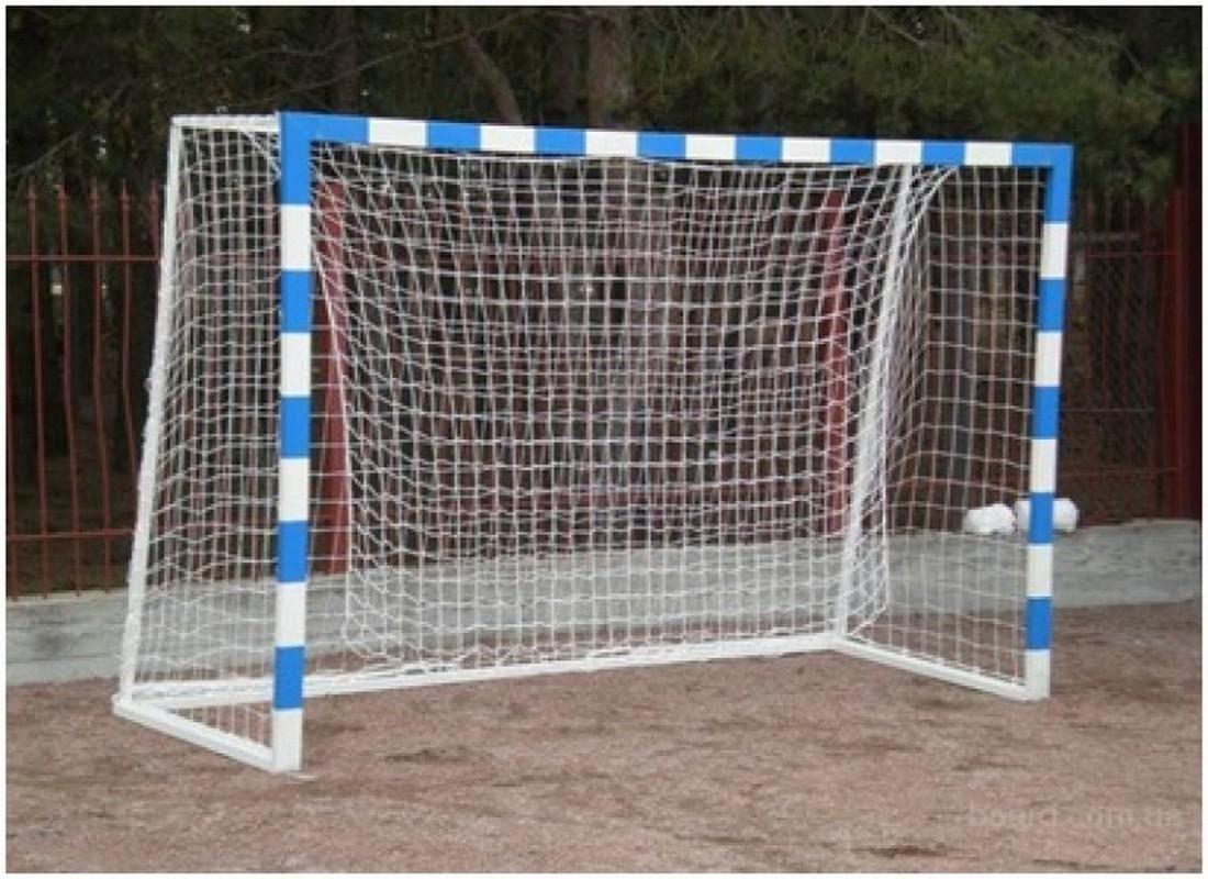Купить Сетка гашения для мини футбольных ворот нить 2,5 мм 2,9х1,9 м ФСИ 2125-03 белый,