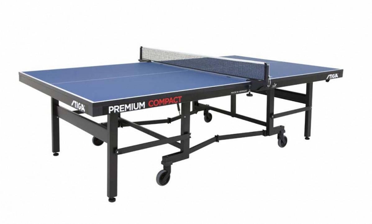Теннисный стол Stiga Premium Compact 25 мм (синий)